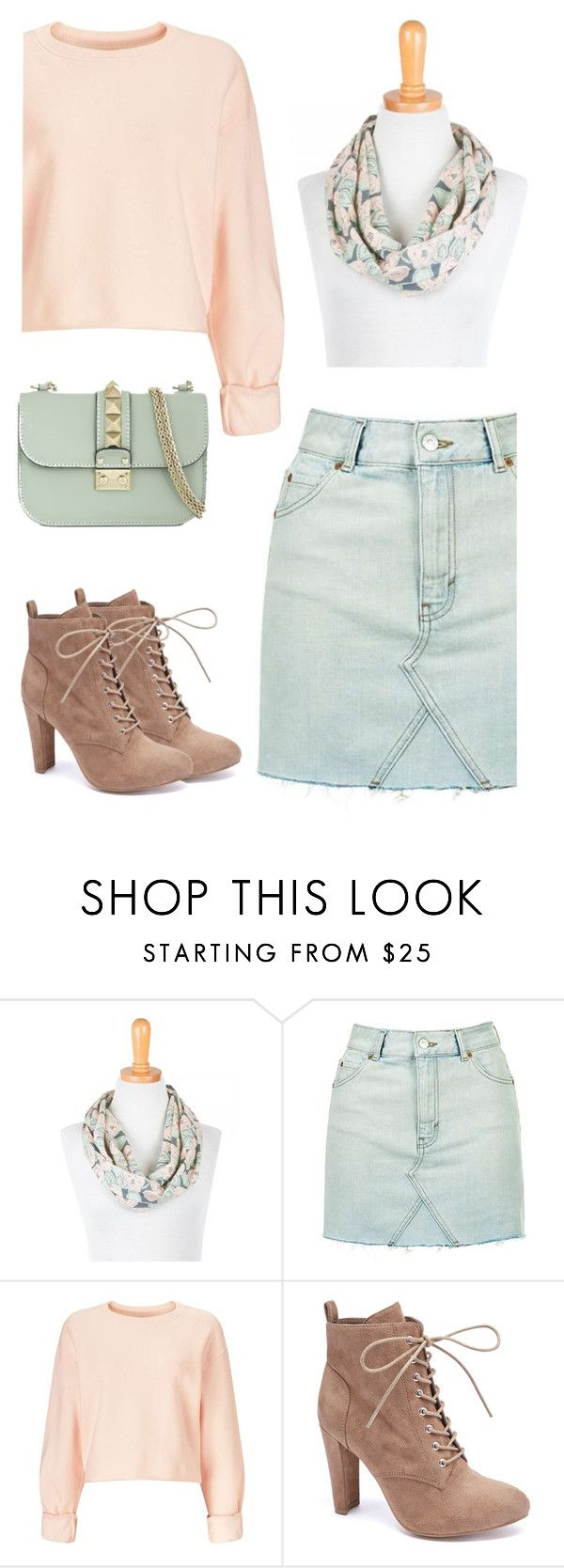 """""""Untitled #1860"""" by ruru833 ❤ liked on Polyvore featuring Topshop, Miss Selfridge, Wild Diva and Valentino"""