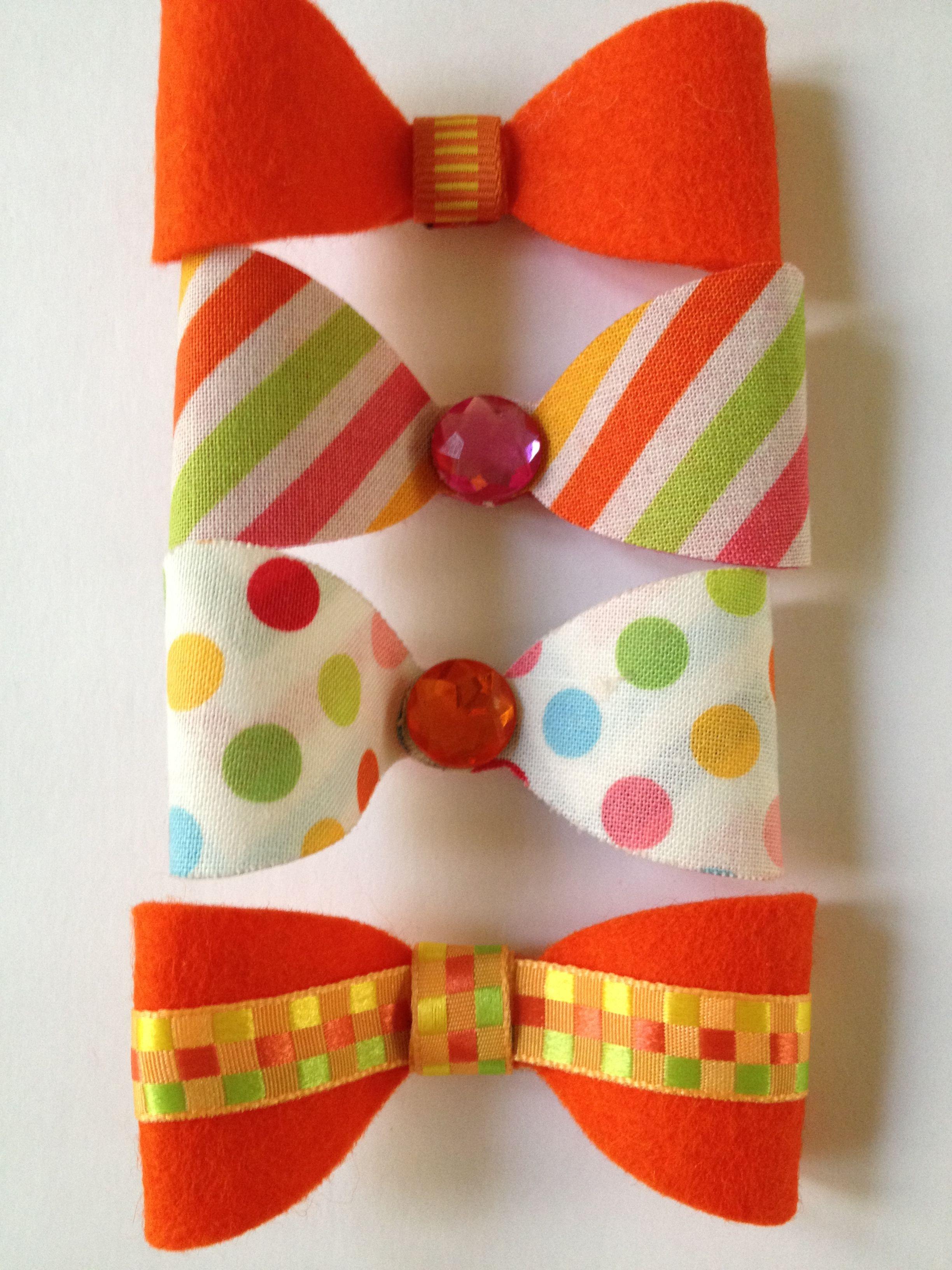 Felt and fabric bows