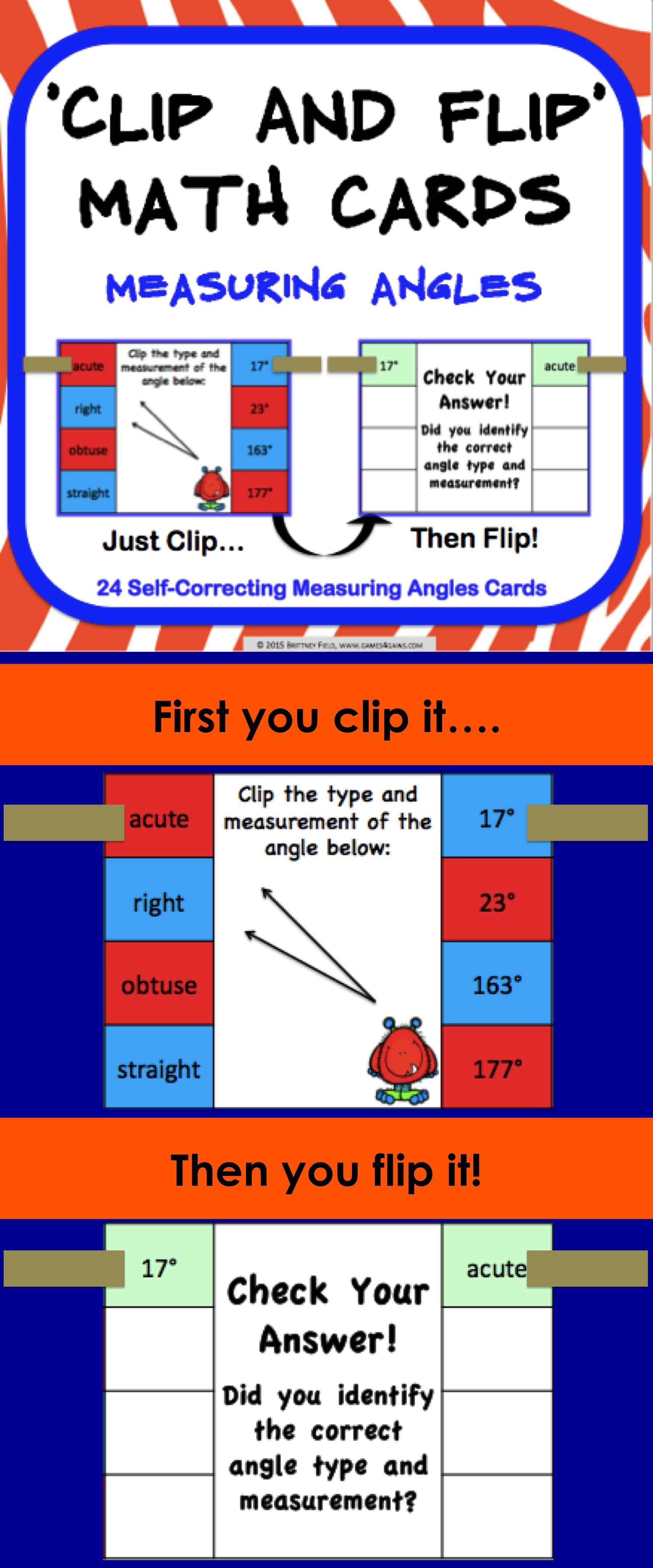 Measuring Angles Task Cards 4 6