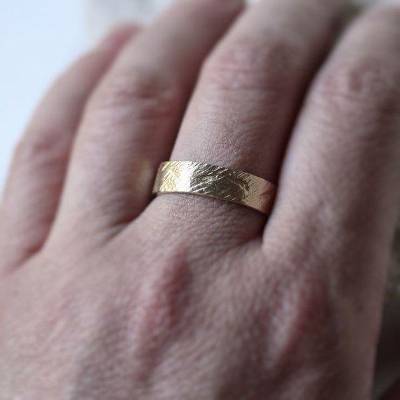 Crash Ring Men S Wedding Band 6mm Wide Rough 10k By Theslyfox 620 00 Rings Mens Wedding Bands Mens Wedding Bands 6mm Mens Wedding Bands