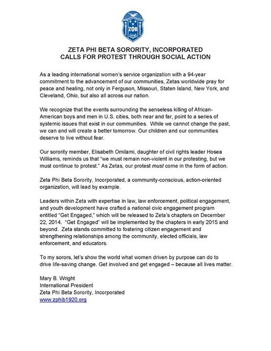 Who Got It Right Black Sororities Issue Response Regarding Letter