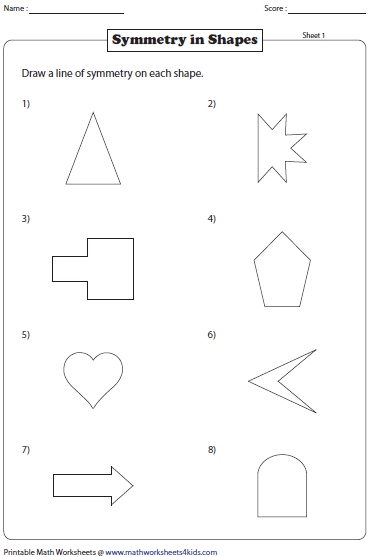 photo regarding Printable Math Worksheets @ Www.mathworksheets4kids.com named Pin through zvonka miklavc upon Matematik Symmetry worksheets