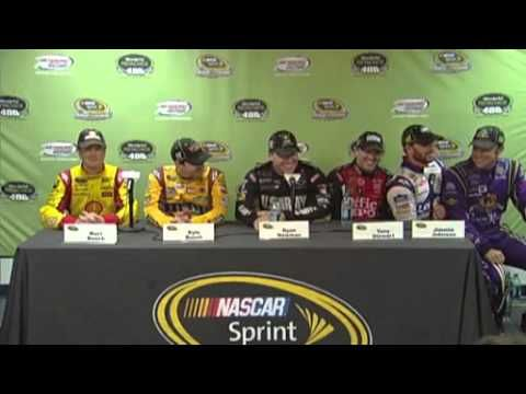 Matt Kenseth Sits On Jimmie Johnsons Lap