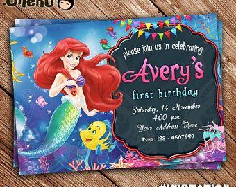 The Little Mermaid Birthday Invitation Printable