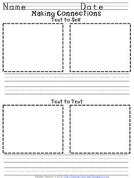First Grade Text To Text And Text To Self Connections Making