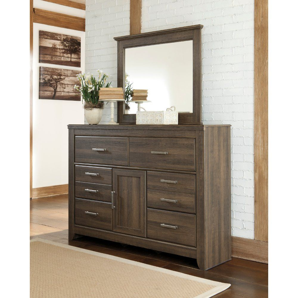 Rustic Modern Driftwood Brown Dresser Fairfax Furniture Stylish Bedroom Ashley Home