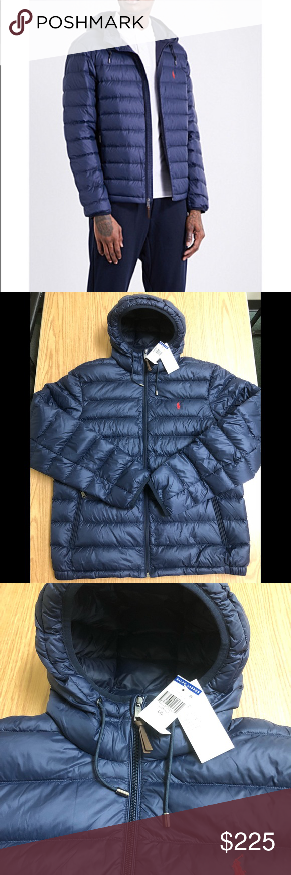 Polo Aviator Navy Packable Hooded Down Jacket Down Coat Jacket Brands Clothes Design [ 1740 x 580 Pixel ]