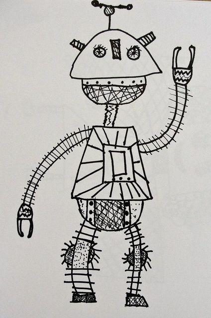 Worksheet. Cute robot  MONSTRES I ROBOTS  Pinterest  Arte para nios