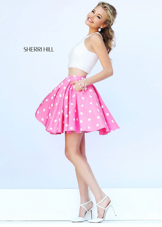 Sherri Hill 32244 Size 00 Ivory/Pink | Pretty In Pink | Pinterest