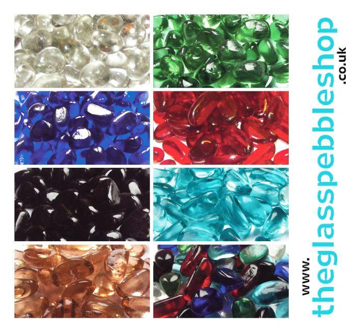 100 Glass Pebbles Stones Beads For Vases Wedding Garden Fish
