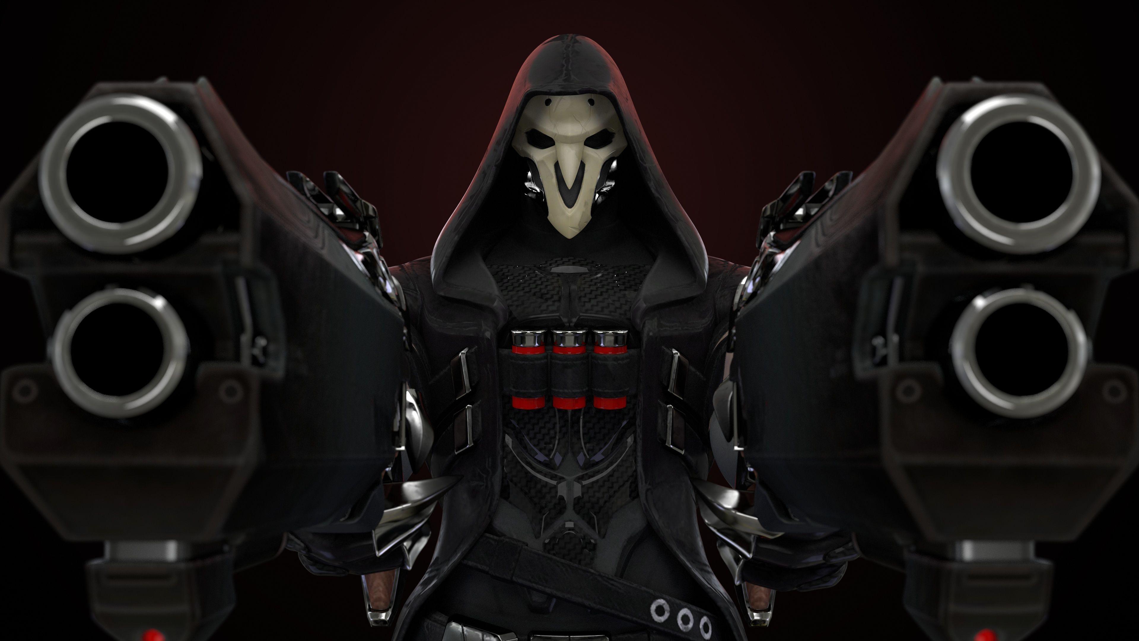 3D Overwatch Reaper Wallpaper Render 3D & Programming