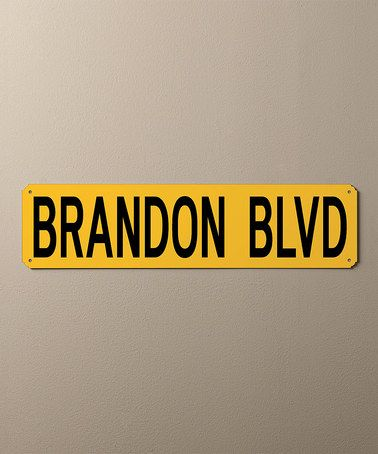 Another great find on #zulily! Yellow & Black Personalized Street Sign #zulilyfinds