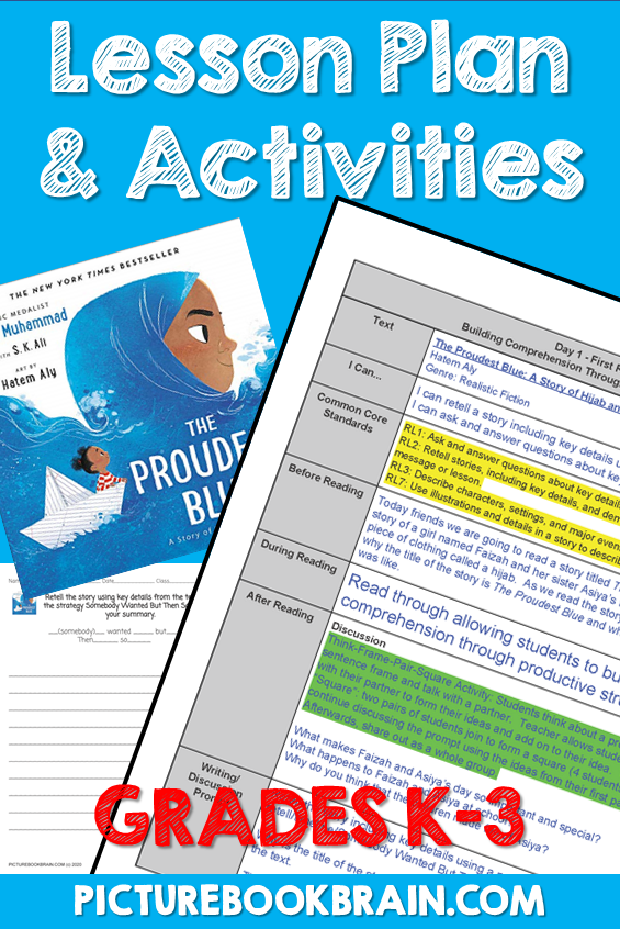 The Proudest Blue by Ibtihaj Muhammad Lesson Plan and Activities