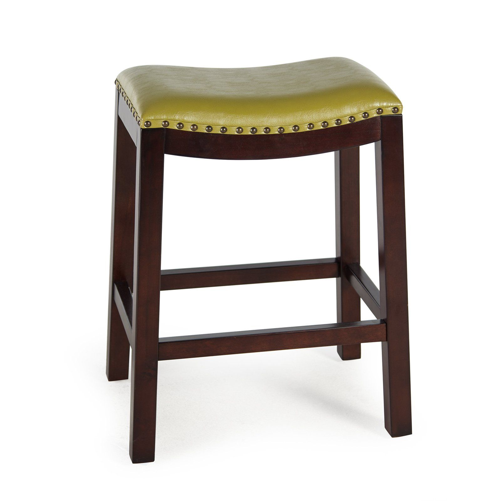 Belham Living Hutton Backless Counter Stool Olive Green Counter