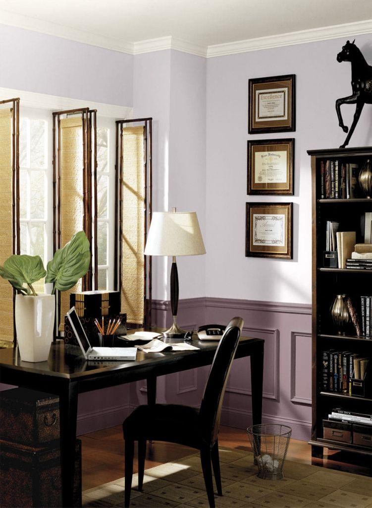 Schreibtisch im kleinen Wohnzimmer am besten home office ...