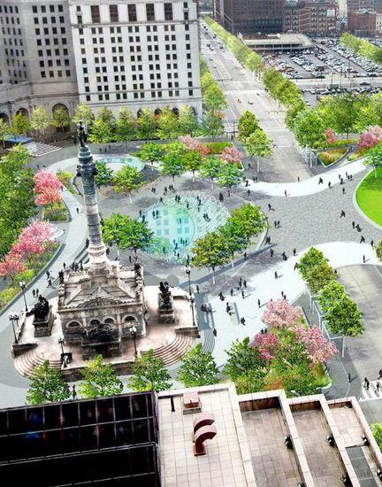 The Design For Cleveland Public Square James Corner