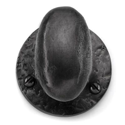 Louis Fraser 263 Centre Door Knob - Black Finish - This Louis Fraser 263 Centre Door Knob is a useful door accessory to match with the corresponding door knobs. The cast iron door knob is a simple centre door knob with no mechanism whose purpose is to facilitate the closing of a door.
