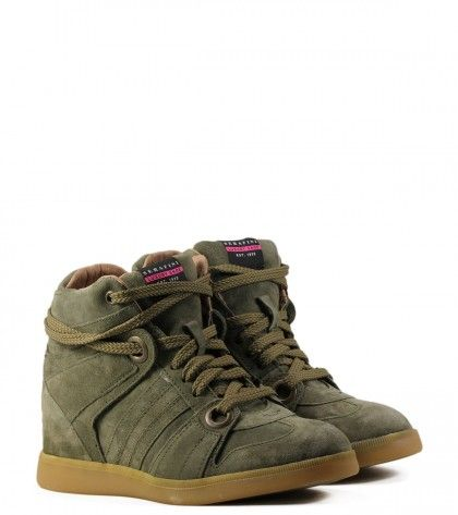 Baskets compensées Serafini Manhattan Military   Wishlist automne ... 239d7136abf