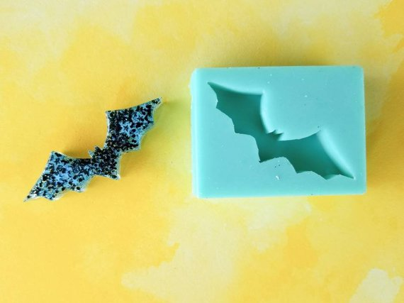 Original Fluttery Bat Cabochon Now Available In Clear Transpa Rubber Mold For Resin Embellishmen