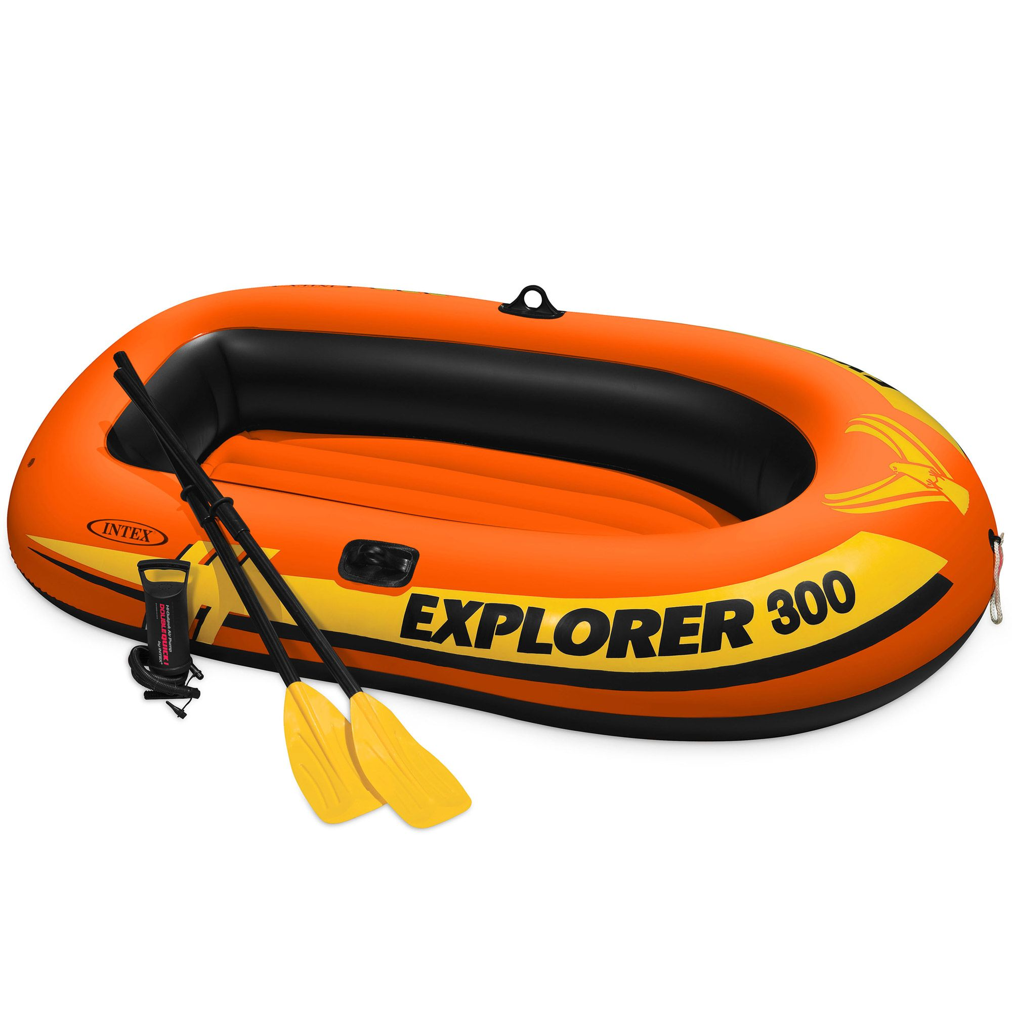 Intex Explorer 300 Compact Inflatable Fishing 3 Person Raft