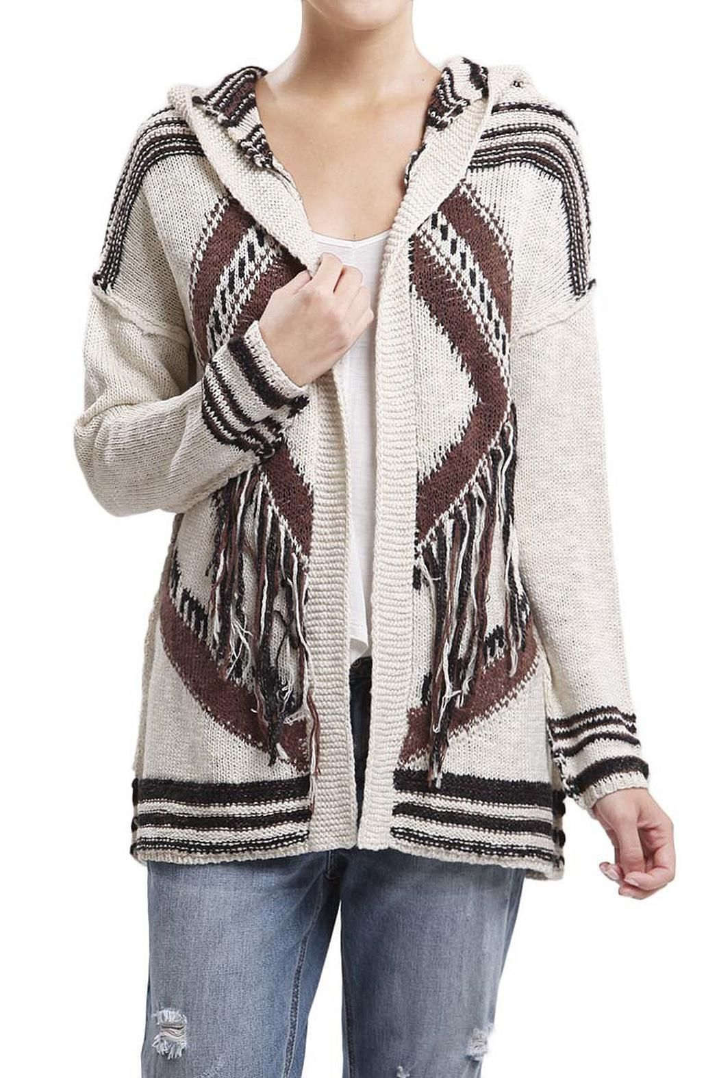 Blu Pepper Western Fringe Cardigan | Blu pepper, Hooded cardigan ...