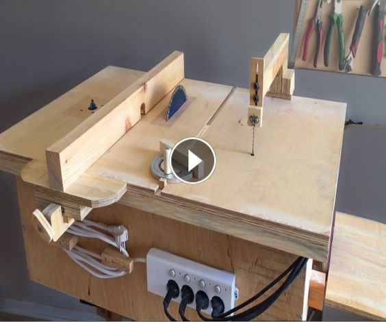 Homemade 4 In 1 Workshop Table Saw Router Table Disc Sander Jigsaw Table 4 In 1calisma Istasyonu Projets De Menuiserie Tables De Decoupe Outillage Bois