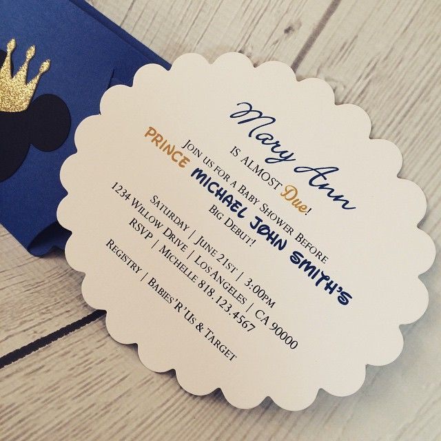 matching prince mickey mouse baby shower invitations click the link in my bio to visit