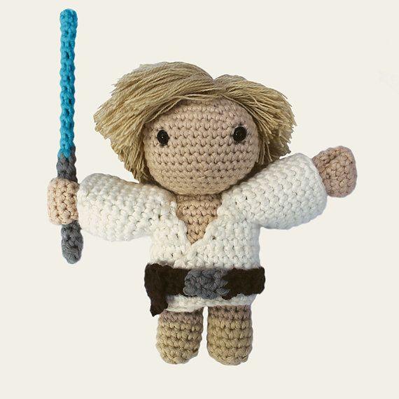 Luke Skywalker Star Wars. Amigurumi Pattern PDF DIY by Mindundia ...