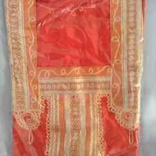 cotton kaftan/abeya/jilbab one size.full length Short Sleeved Orange Shade