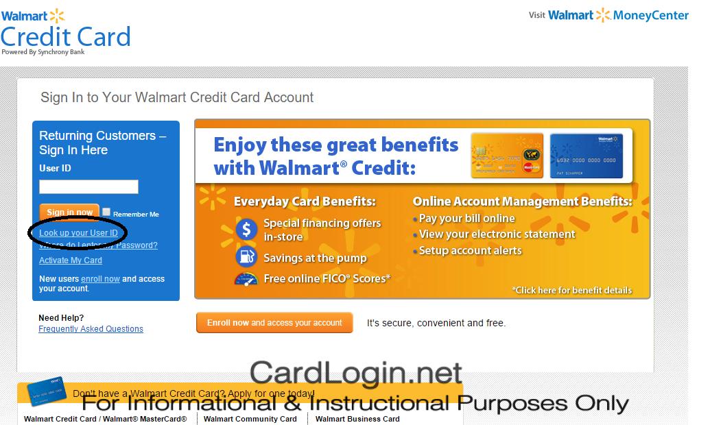 walmart online credit card payment login | Walmart Credit Card ...