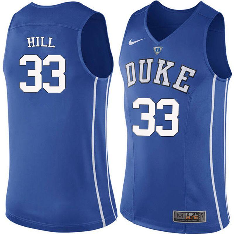 reputable site b07b6 e19e2 Men #33 Grant Hill Duke Blue Devils College Basketball ...
