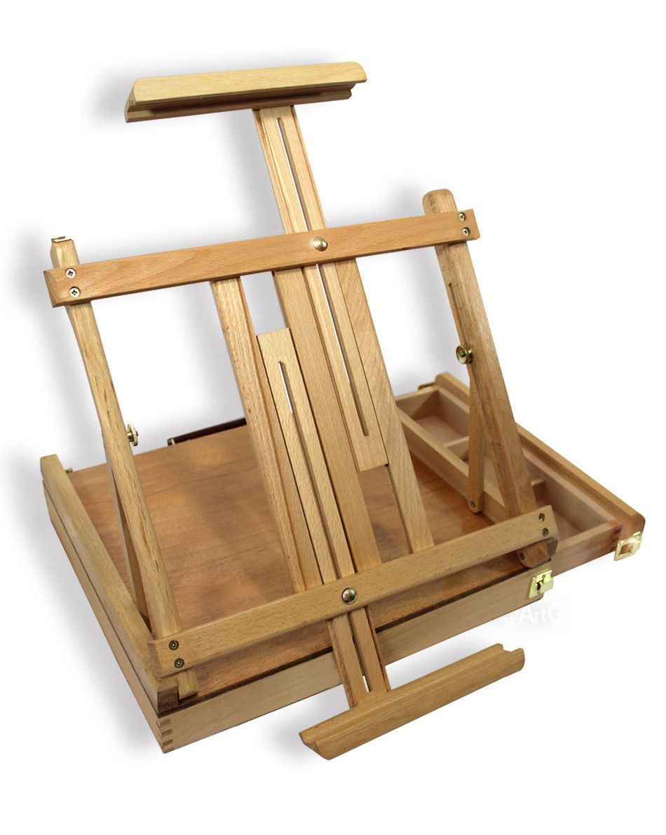 Artist Quality Beechwood Sketch Box Versatile Portable Table Easel ...