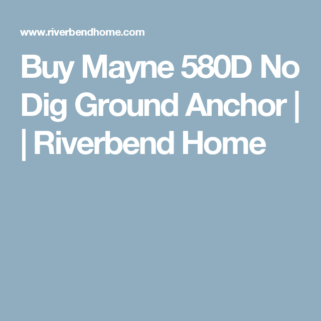 Mayne No-Dig Ground Anchor