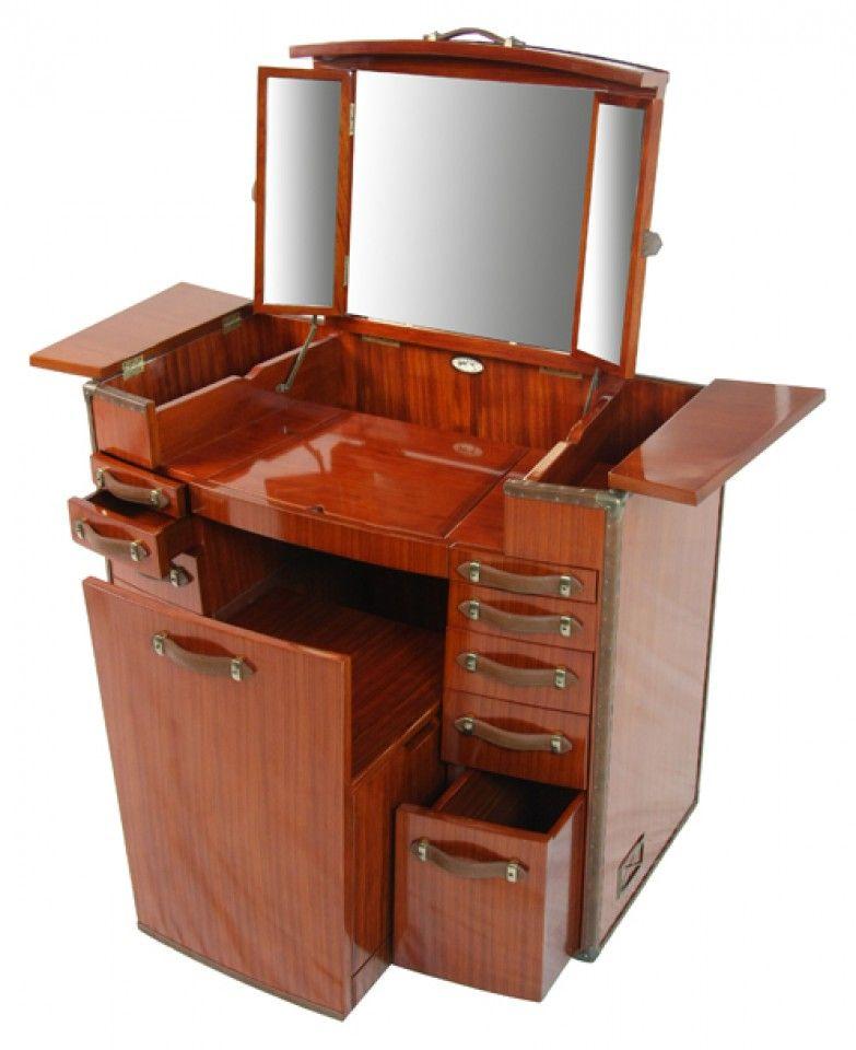Coiffeuse Finition bois de rose La Desirade - Meubles - Starbay - meuble coiffeuse avec miroir pas cher