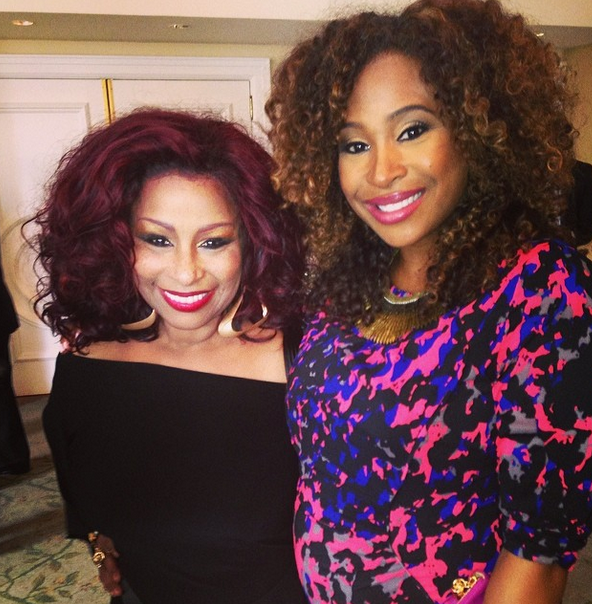 Extra Tv Host Tanika Ray And Chaka Khan At The Essence Black Women