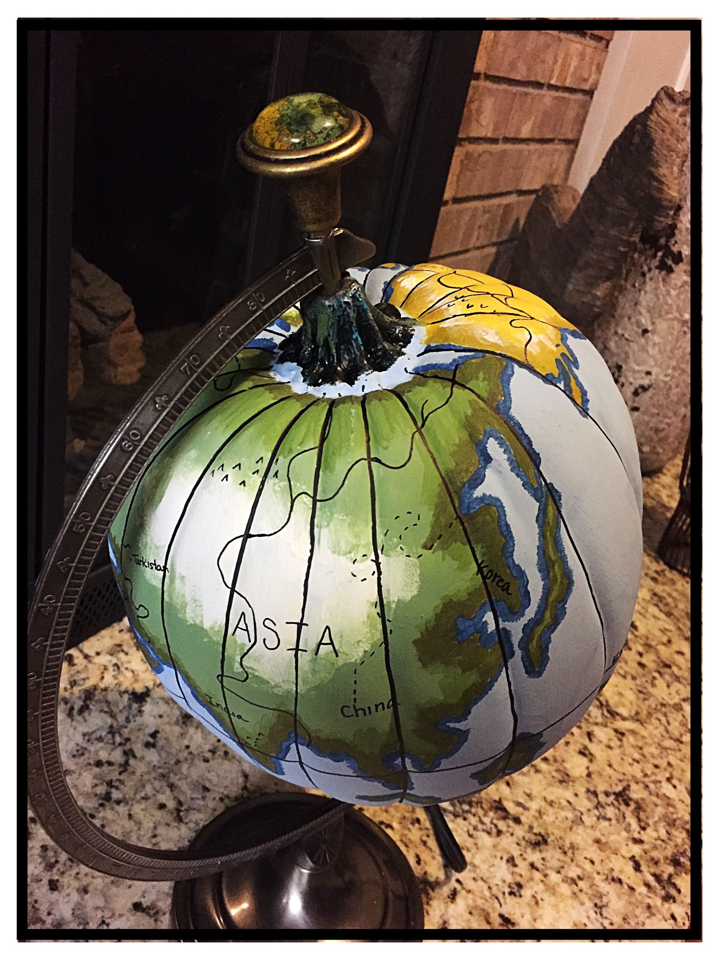Painted Earth (Old World) Pumpkin Pumpkin halloween