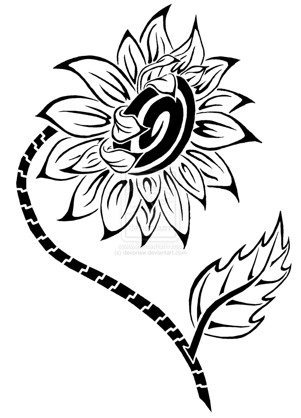 Sunflower tattoo google search tattoo pinterest sunflowers