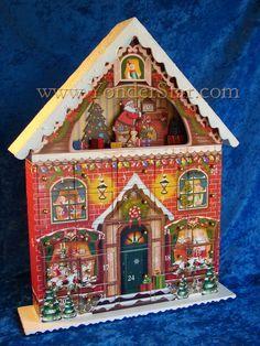 Image Result For Vintage Wooden Advent Calendar Houses Calendar Craft Wooden Advent Calendar Advent Calendar House