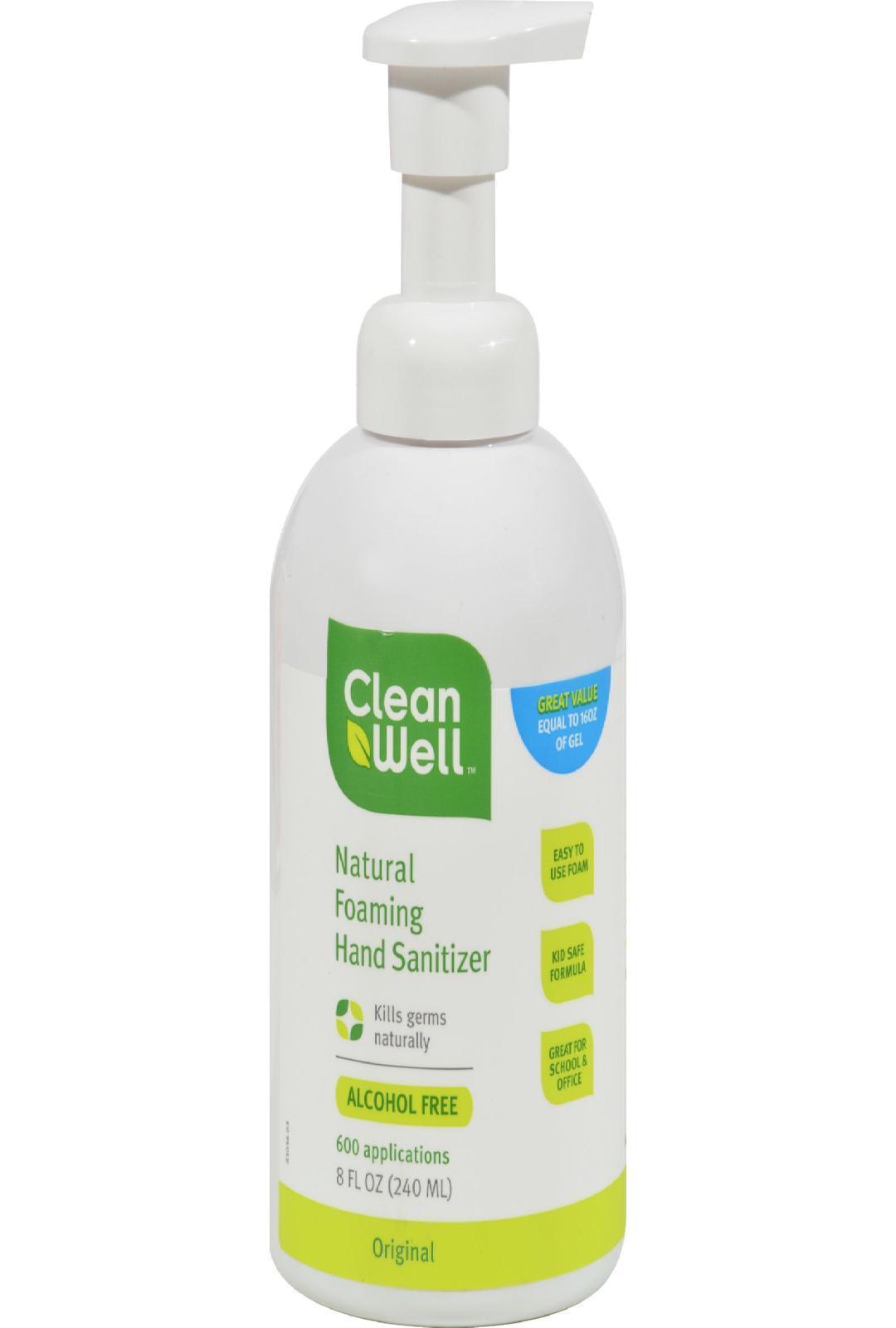 Cleanwell Hand Sanitizing Foam 8 Oz Hand Sanitizer Alcohol
