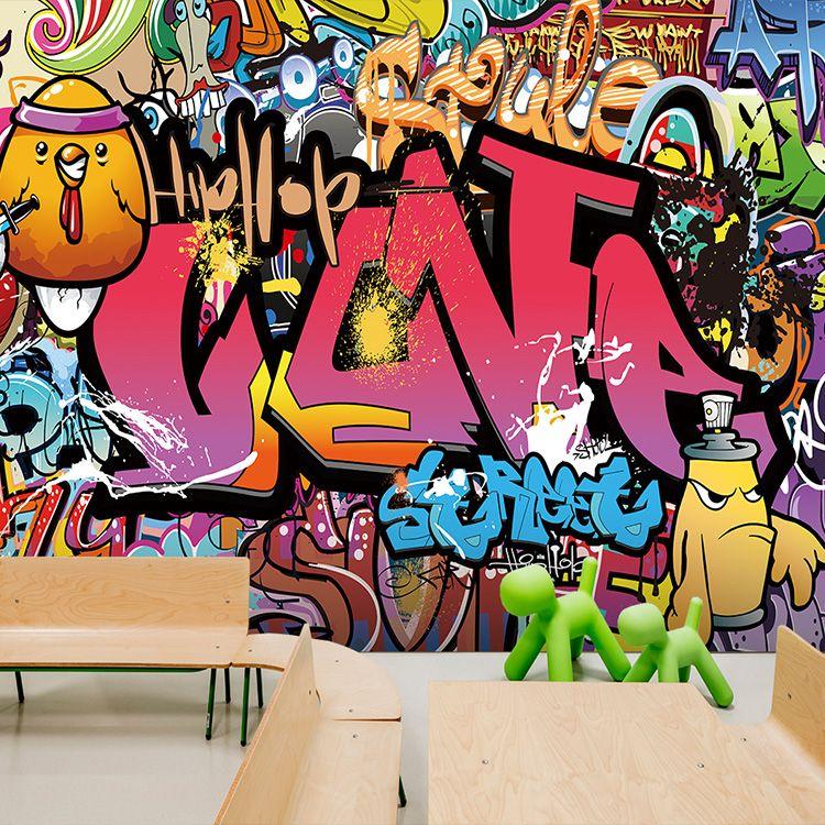 Custom 3d Photo Wallpaper Graffiti Wallpaper Brick Wall Style Wallpaper Mural Street Art Yoga Dance Ro Graffiti Wallpaper Murals Street Art Street Art Graffiti