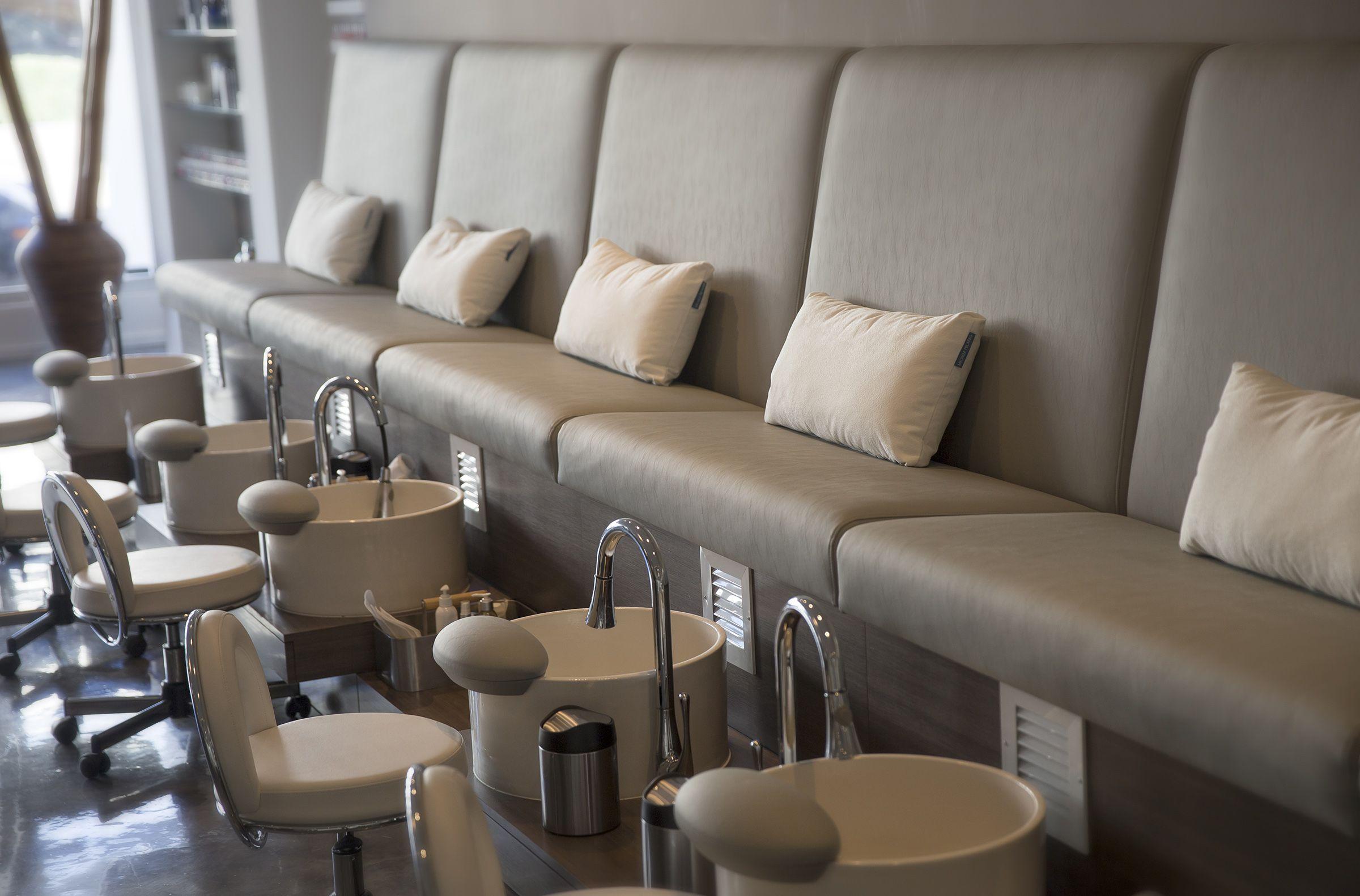 Serena Pedicure Bench With Mode Vessel Sink Salon Interior Room Setup Spa Rooms