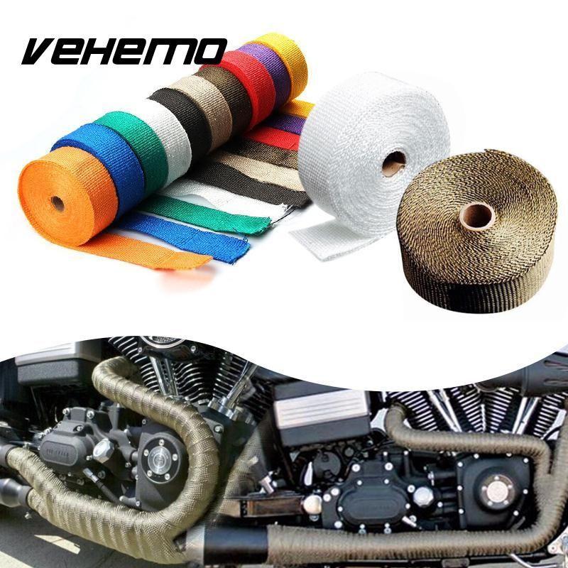 chaleur d 39 chappement 10 tuyau bouclier thermique thermo turbo wrap ruban adh sif pour voiture. Black Bedroom Furniture Sets. Home Design Ideas