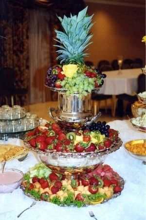 Photo Gallery Fruity Wedding Reception Food Table Reception