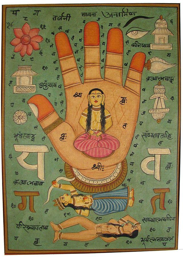 Palm Of The Goddess Indian Yoga Art Pinterest Goddesses