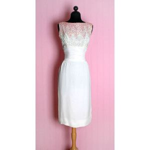 Um, definitely minus the sequins. Vintage 1950'S 50's White Pencil Dress Wiggle Wedding Dress Pink Sequins