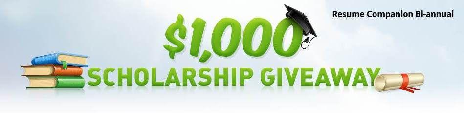 1 000 resume companion scholarship for undergrad graduate