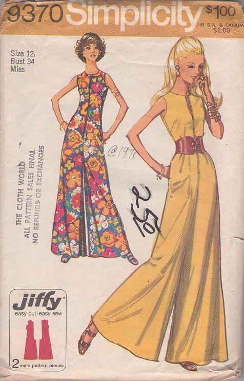 MOMSPatterns Vintage Sewing Patterns - Simplicity 9370 Vintage 70\'s ...