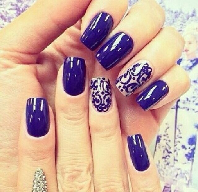 Image result for blue and silver nail designs for prom | nails ...