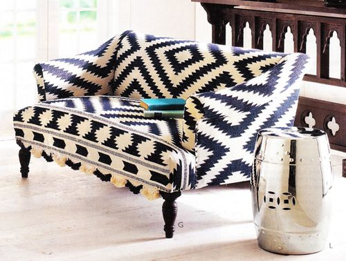 Bold Patterned Sofa By Wisteria NAMESTAJ Pinterest Fabric Sofa Unique Patterned Settee