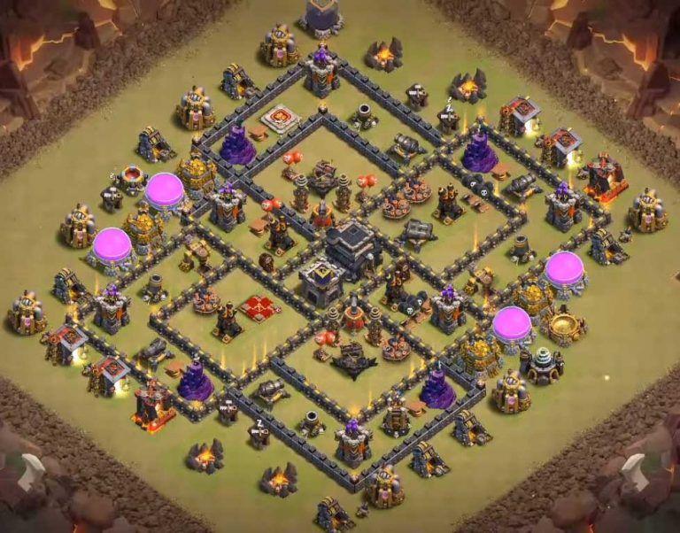 Coc Th9 Best War Base 5